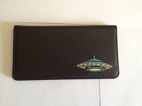 100% Leather Top Tear Checkbook Wallet - UFO