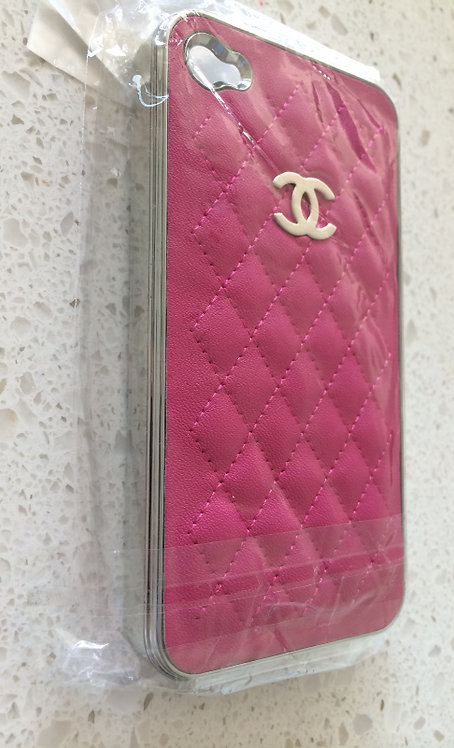 Chorme and Pink Cloth iPhone 5/5c/5s Designer Case