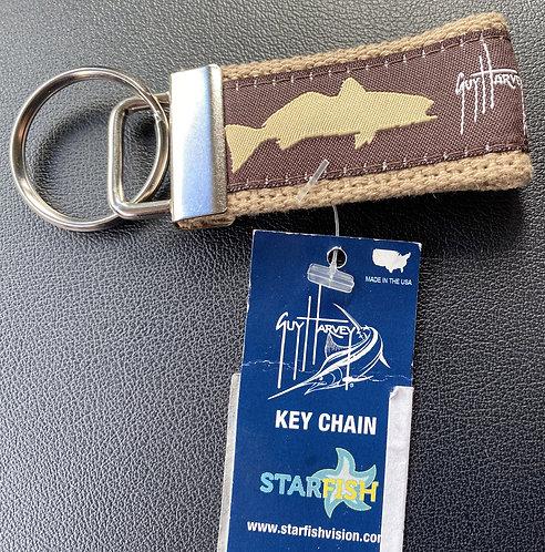 Guy Harvey Brown Fish Inshore Key Chain
