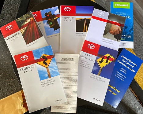 2019 Toyota 4Runner Owners Manuals Kit