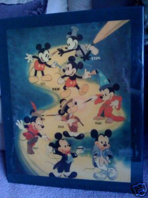 Evolving Mickey Mouse Wall Plaque (1928-1947)
