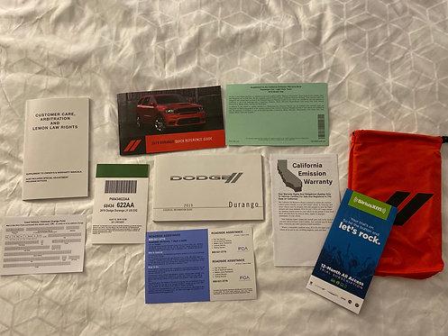 2019 Dodge Durango US Owners Manuals Kit P68434622AA