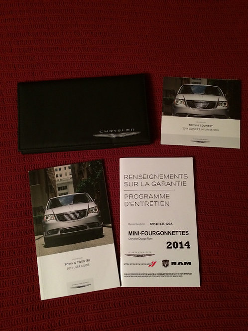 2014 Chrysler Town & Country Owners Manuals Kit