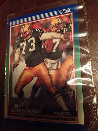 Alan Veingrad 1990 Score Card (Packers)