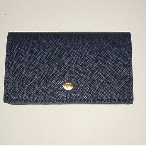 See Jane Work® Faux Leather Business Card Holder, Navy Item # 9184298