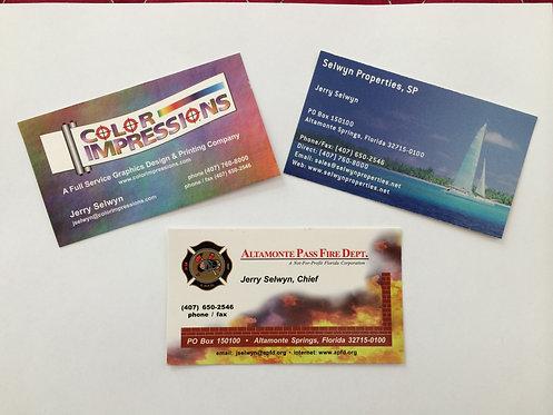 1000 Full Color UV Gloss Business Cards 14pt Stock