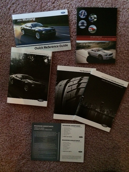 2014 Ford Mustang Owners Manual Kit ER3J19G219AB