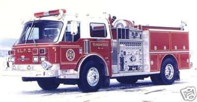 American LaFrance Framed Skyline Lakes FD Delivery