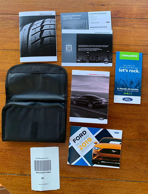 2019 Ford Mustang Owners Manual Portfolio