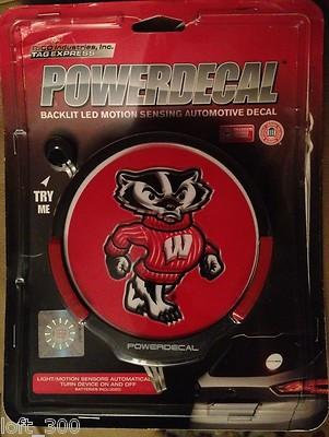 Wisconsin Badgers Power Decal Backlit LED Motion