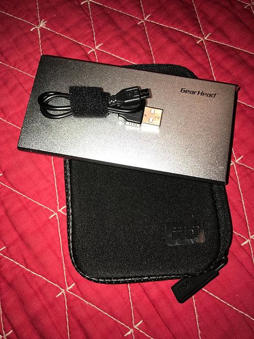 Gear Head PB5000SLV High-Capacity Mobile Powerbank