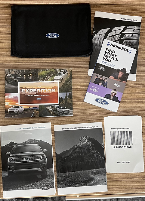 2020 Ford Expedition Owners Manuals Kit and Case LL1J19G219AB