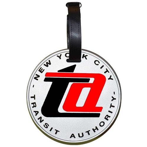 TA Logo Rubbery Luggage Tag with Rear Name Window