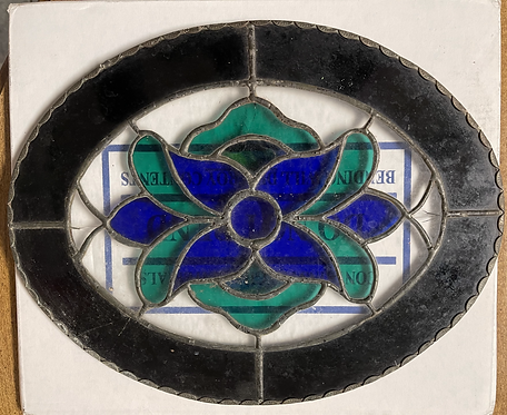 Stained Glass Oval Art Deco