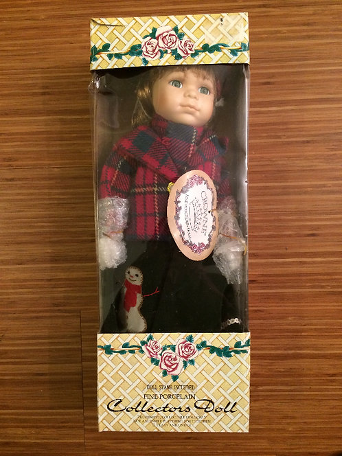 "Crowne Fine Porcelain 16"" Doll (Ruby)"