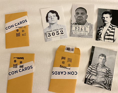 Idaho State Prison Con Cards (3 packs of 4 each)