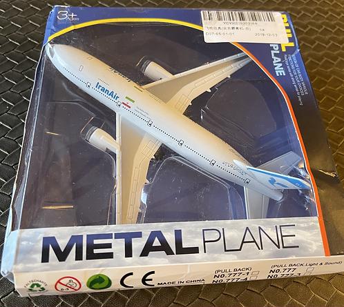 1/120th Die Cast Boeing 777 Metal Plane - Iran Air