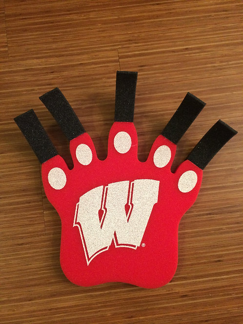 NCAA Wisconsin Badgers Foam Hand Badger Claw