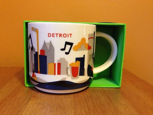 Starbucks Detroit 14oz Ceramic Coffee Mug YAH