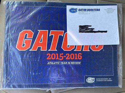 2015-2016 FL Gators Boosters Athletic Year in Review Book
