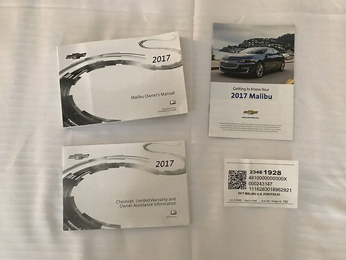 2017 GM Chevy Malibu Owners Manuals (23461928)