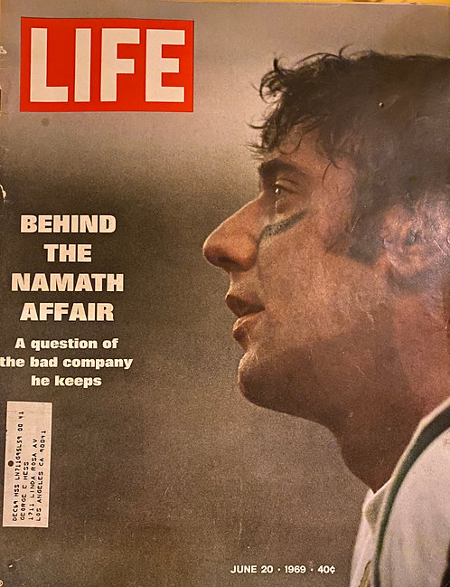 Life Magazine June 20 1969 Issue - Namath Affair