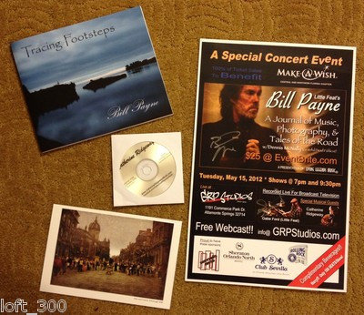 Little Feat Bill Payne Autograph Concert Goodies