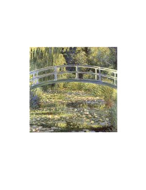 Claude Monet (The Water-Lily Pond) Art Poster