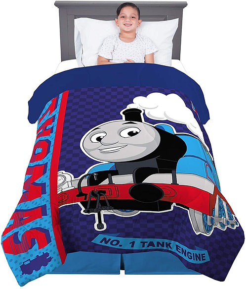 "Franco Kids Bedding Super Soft Comforter, Twin Size 64"" x 86"", Thomas & Friends"