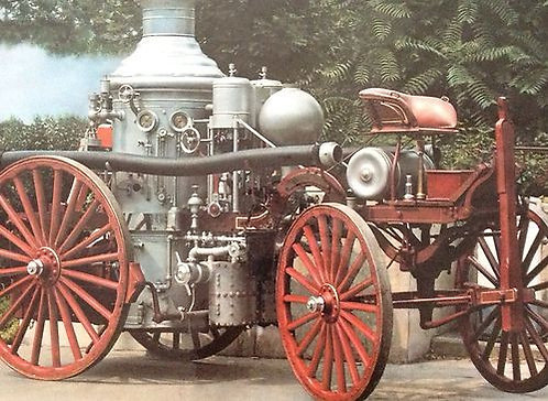 10 x 13 Old Carriage Pumper - American LaFrance