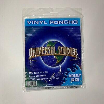 Universal Studios Vinyl Poncho Adult Size