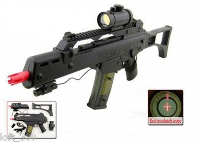 M41GL Spring Airsoft Rifle W/Laser & Red Dot Scope