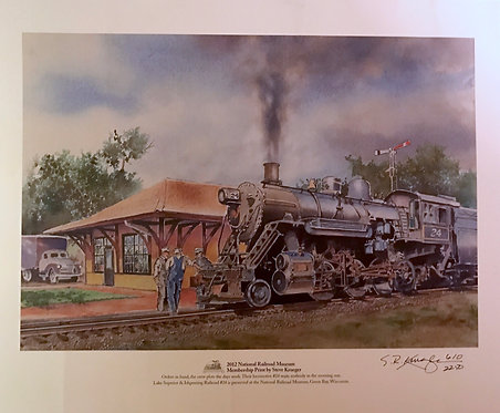 2012 National Railroad Museum Membership Print