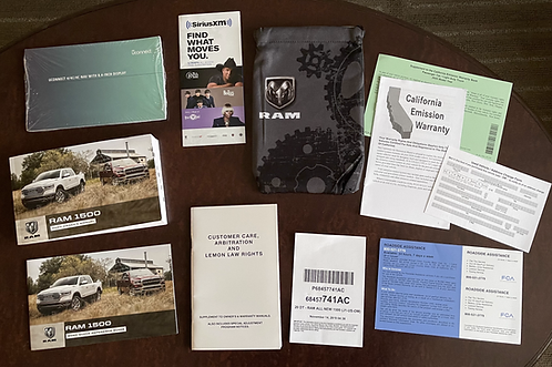 2020 Dodge Ram Trucks Owner Manuals and Case P68457741AC
