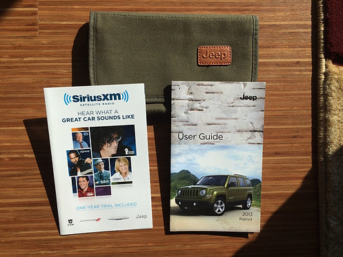 2013 Jeep Patriot Owner Manuals and Cloth Case