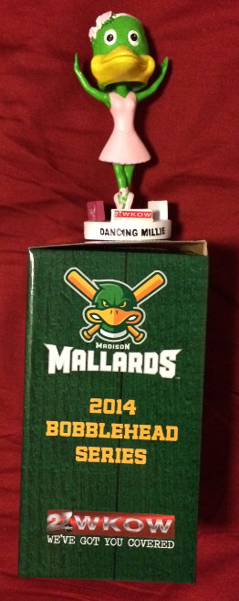 Madison Mallards 2014 Bobblehead Dancing Millie