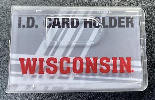 Wisconsin WI ID Varsity Line UW ID Card Holder