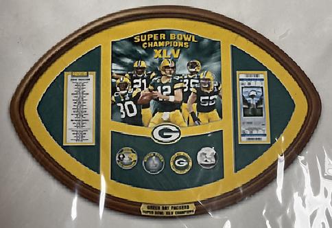 Green Bay Packers Commemorative Super Bowl Champions XLV Wall Plaque