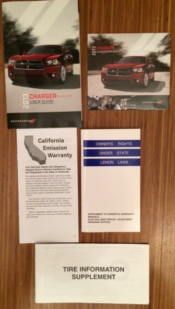 2013 Dodge Charger Owner Manuals and DVD