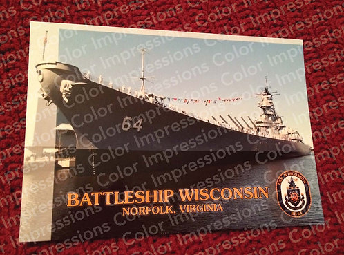 Color Postcard: Battleship Wisconsin