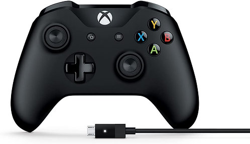 Microsoft 4N6-00001 Xbox 1708 Controller + Cable for Windows Black