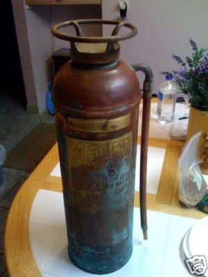 Antique Columbia Copper Fire Extinguisher 2.5 Gal