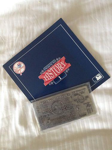DON LARSEN NY Yankees Metal Ticket - 1956 World Se