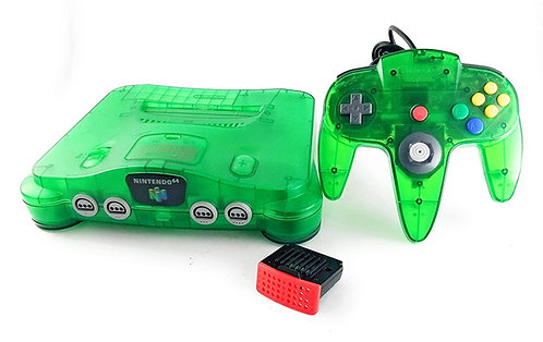 Nintendo 64 System Video Game Console Jungle Green with Controller