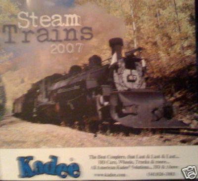 2007 Steam Trains Railroad 12m Calendar - Pictures
