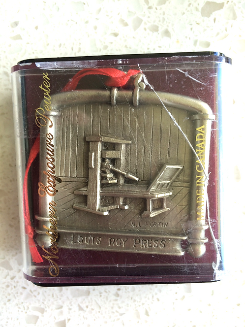 Northern Exposure Pewter Ornament Louis Roy Press