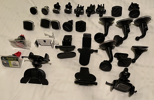 Miscellaneous Lot of 29 Mobile Device Car Dash Mounts - various design and brand