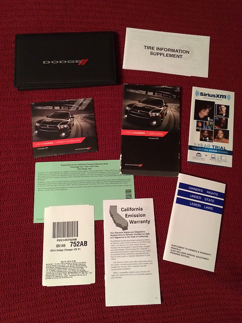 2014 Dodge Charger Owners Manuals Kit & DVD