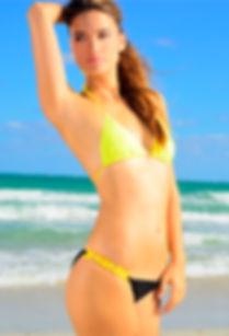 Kmswimwear bikini beachwear USA16 Yell&black