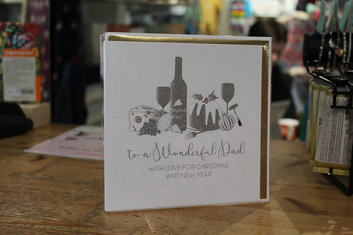 'To a Wonderful Dad' Food and Drink Christmas Card